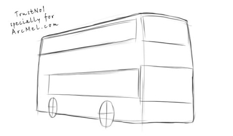 How to draw a bus step 2