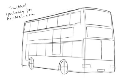 How to draw a bus step 3