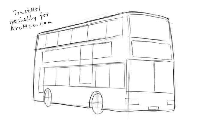 How To Draw A Bus Step By Step Arcmel Com