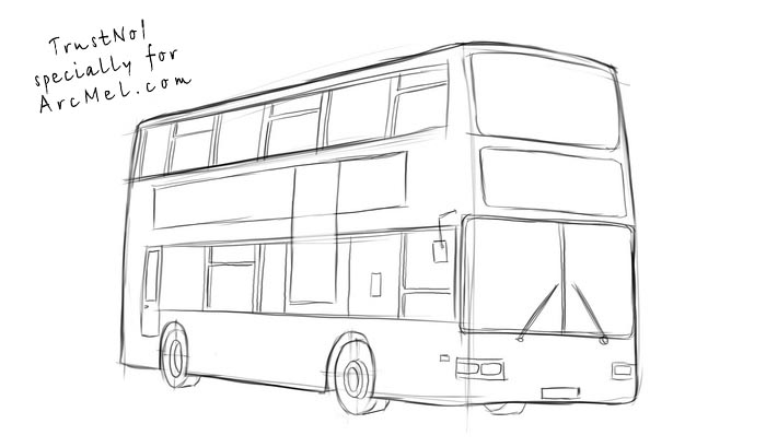 How To Draw A Bus Step By Step Arcmelcom