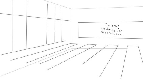 How to draw a classroom step 1