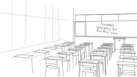 How to draw a classroom step 3