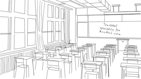 How to draw a classroom step 4
