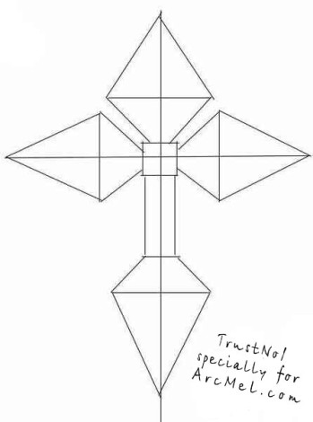 How to draw a cross step 2
