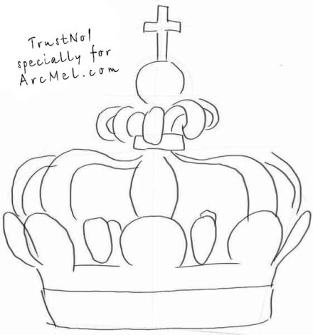 How to draw a crown step 2