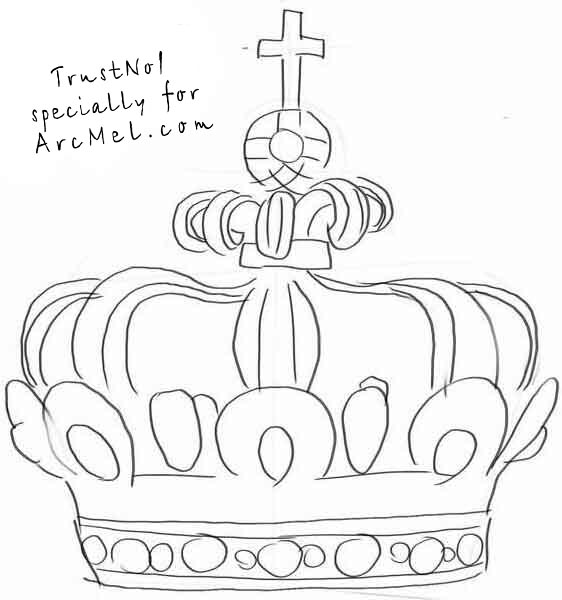 how to draw a crown step 3