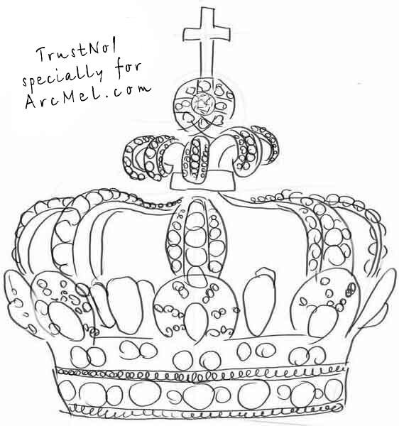 King Crown Sketch How to draw a crown step 4