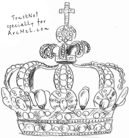 How to draw a crown step 5