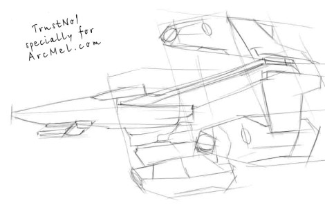 How to draw a spaceship step 2