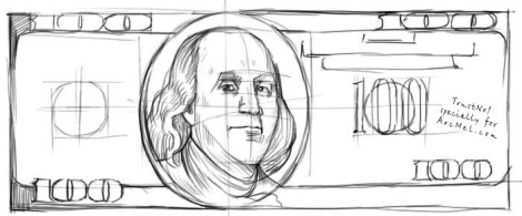 How to draw money step 3