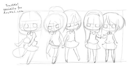 How to draw Chibi step 2