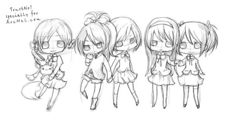 How to draw Chibi step 3