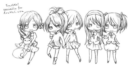 How to draw Chibi step 4