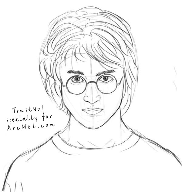 It is an image of Remarkable Harry Potter Simple Drawing