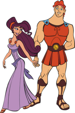 How to draw Hercules and the Gorgon step by step