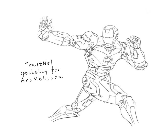 The gallery for --> How To Draw Iron Man Full Body