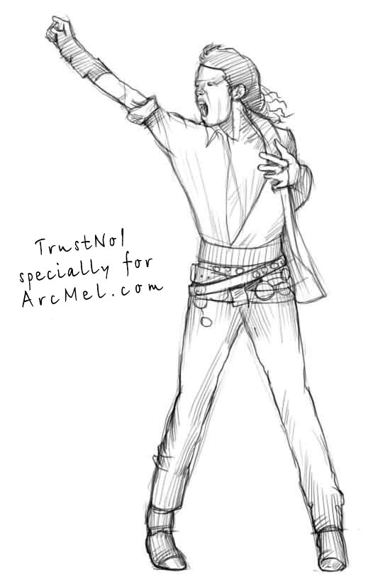 How to draw Michael Jackson step by step | ARCMEL.COM Easy Michael Jackson Drawing