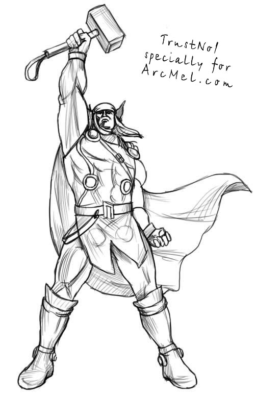 easy thor drawings - photo #13