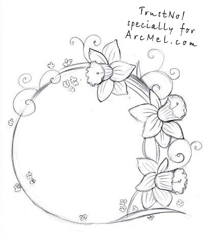 How to draw a narcissus step by step arcmel com for Step by step instructions on how to draw a flower
