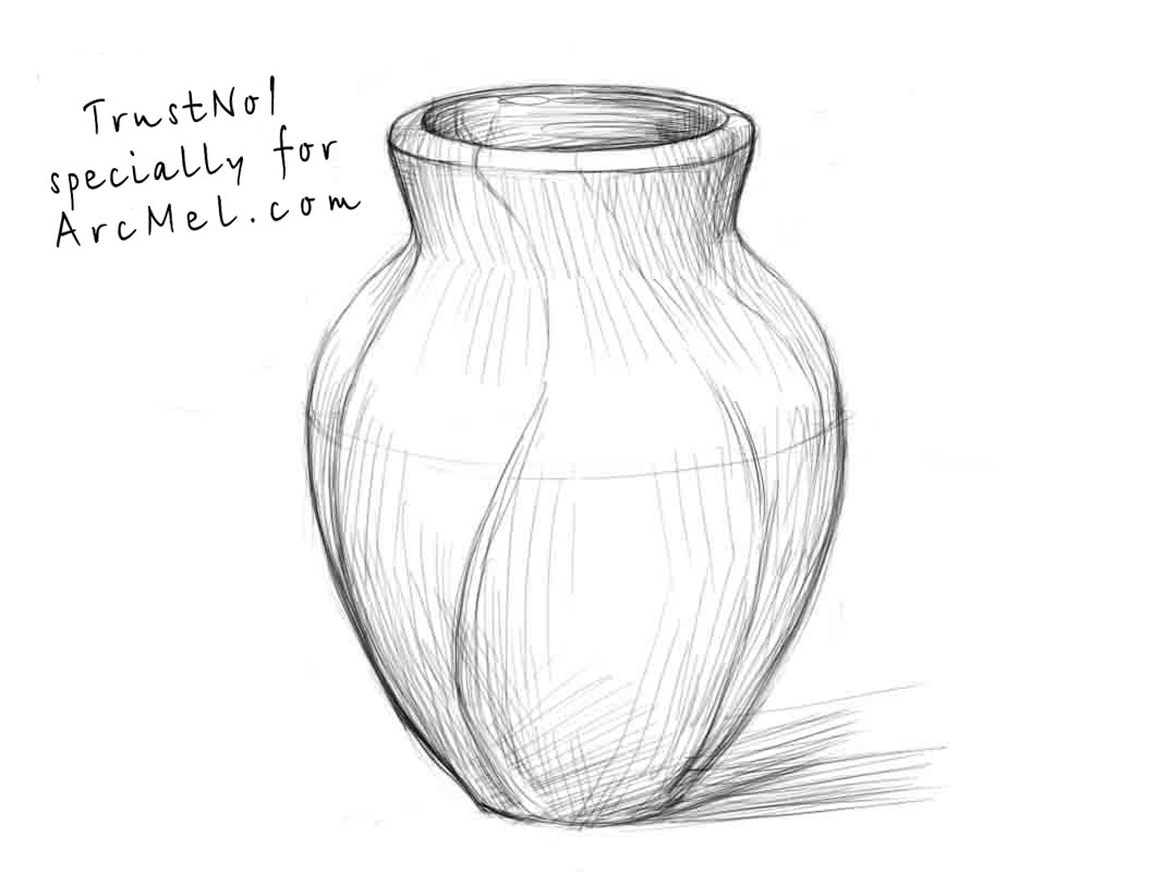 How to draw a vase step by step arcmel com for Things to sketch step by step