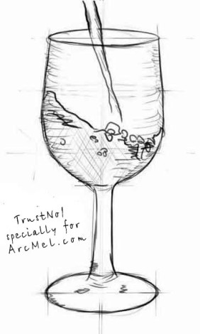 How to draw a wineglass step 5