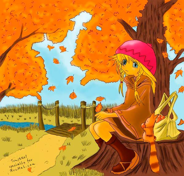 Autumn Season Drawing How to Draw Autumn Step by