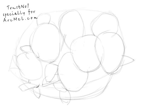 How to draw pansies step 1