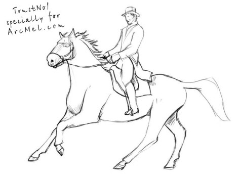How to draw a rider step 4