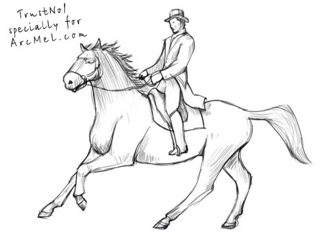 How to draw a rider step 5