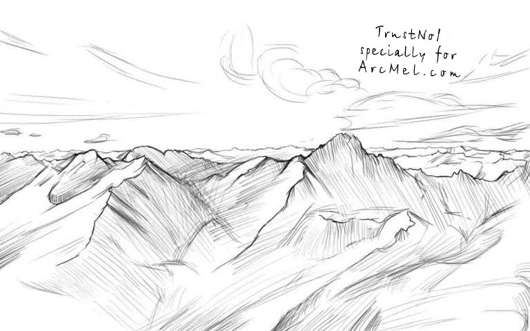 How to sketch mountains