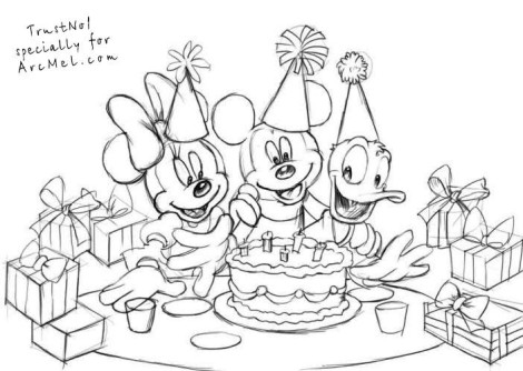 How to draw a birthday party step 4