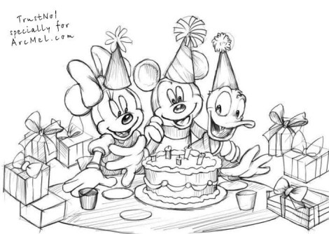 How to draw a birthday party step 5