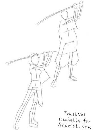 How to draw Samurai step by step 2