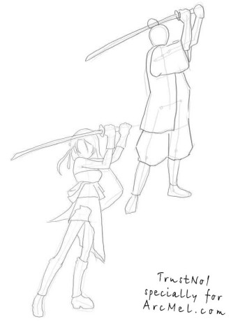 How to draw Samurai step by step 3
