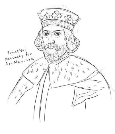 How to draw a king step by step 4