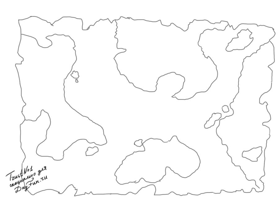 how to draw map step by step