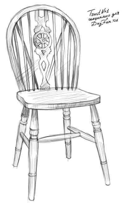 how to draw chair structures