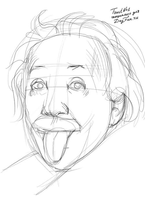 How to draw a tongue step by step | ARCMEL.COM