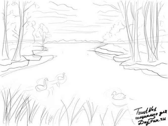 how to draw nature step by step arcmel com