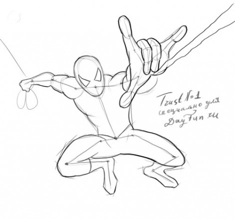 how to draw spider man step by step arcmel com