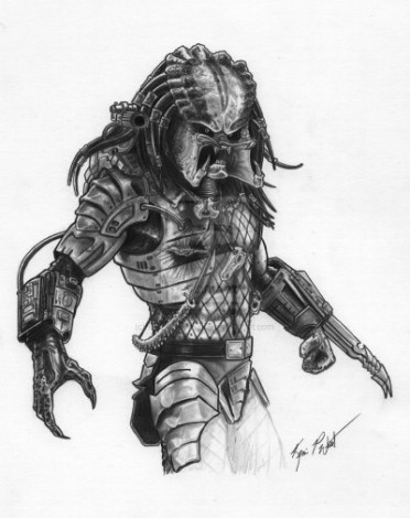 How to draw Predator step by step 5