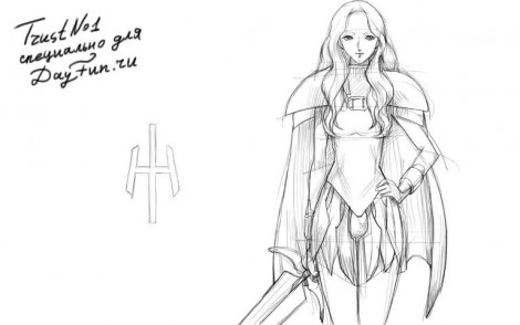 How to draw Teresa Claymore step by step 4