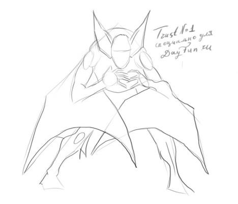 How to draw a bat step by step 2