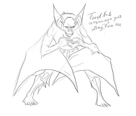 How to draw a bat step by step 3