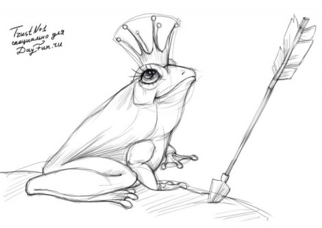 How to draw a frog step by step 3
