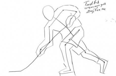 How to draw a hockey player step by step 2