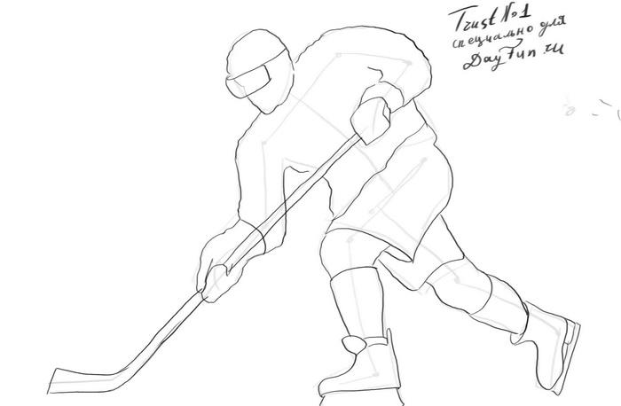 How to draw a hockey player step by step  ARCMELCOM
