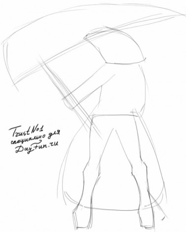 How to draw a scythe step by step 1