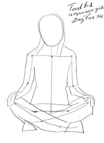 How to draw a sitting girl step by step 2
