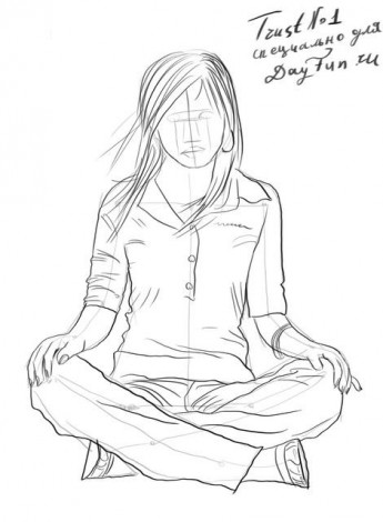 How to draw a sitting girl step by step 4